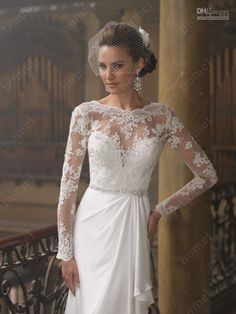 vintage wedding dresses lace sleeves - Google Search
