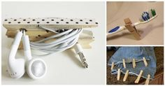21 Life-Saving Clothespin Hacks That You Only Wish You Knew Sooner Diy Craft Projects, Projects To Try, Diy Crafts, Lifehacks, Clothes Pegs, Saving Tips, Storage Solutions, Helpful Hints, Repurposed