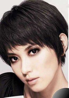 Straight Pixie for Thick Hair