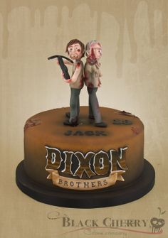 The Walking Dead Cake Merle and Daryl Dixon - by littlecherry @ CakesDecor.com - cake decorating website
