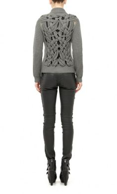 Nicole miller - cable cut zipper sweater