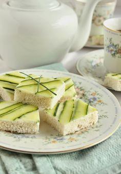 Cucumber Tea Sandwiches The most beautiful I've ever seen!