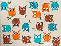 Love this, both the owls and color combinations! A David Bromstad original, inspired by Pier 1 Imports.