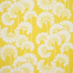Wallpaper - Florence Broadhurst Yellow Japanese Floral