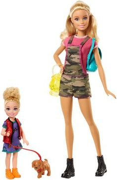 Toys Barbie Camping Fun Doll & Chelsea Sister with Accessories Image 1 of 7 Barbie Doll Set, Barbie Sets, Play Barbie, Doll Clothes Barbie, Barbie Doll House, Barbie Dream House, Barbies Dolls, Barbie Barbie, Barbie Stuff