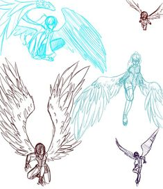 wings poses - Google Search: