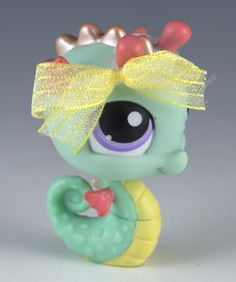 Littlest Pet Shop Seahorse #348 Aqua With Purple Eyes #Hasbro