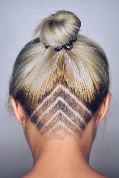 An undercut hairstyle is probably the best way to live up your hair. This kind of hairstyle will for sure make you stand out from the crowd. Click to see the hottest hair tattoo ideas!