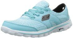Skechers Women's Go Walk 2 Nite Owl Walking Shoe,Aqua Textile,5.5 M US