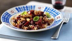 This is a super tasty, quick dinner for two, and the red wine makes it a little bit special.