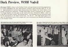The All-Campus Vodvil and Duck Preview Weekend 1951. From the 1952 Oregana (University of Oregon yearbook). www.CampusAttic.com