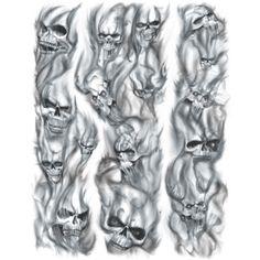 @hookuptattoos Tattoo Skull & Smoke Filler 2 Large