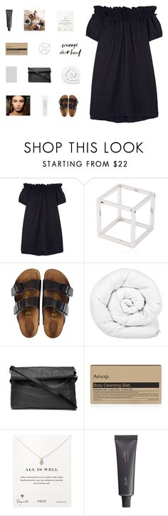 """""""time only knows how to heal"""" by made-of-starlight ❤ liked on Polyvore featuring Clu, Caterina Zangrando, Birkenstock, Brinkhaus, Aesop, Dogeared, Bite and Fresh"""