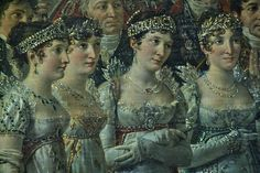 Napoleon's sisters: Caroline, Elise, and Pauline and his stepdaughter Hortense.