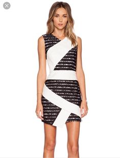 b14fab0c270 BCBGMaxazria Dalia Black White Lace Dress BNWT Size 8 Lace Sheath Dress