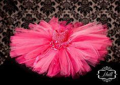 Classy fushia/ pink crochet tutu dress