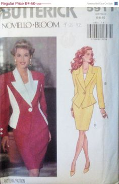 Sale Sale Sale Sewing Pattern 1990s by SewYesterdayPatterns (Craft Supplies & Tools, Patterns & Tutorials, Sewing & Needlecraft, Sewing, sewing pattern, commercial, craft supplies, butterick pattern, sewing supplies, vintage pattern, misses womens, size 6 8 10, womens jacket, misses skirt pattern, 90s skirt pattern, 1990s sewing pattern, jacket pattern)