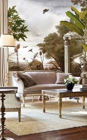 Ananbô: Le Jardin au Papillon - Papier peint panoramique Ananbô