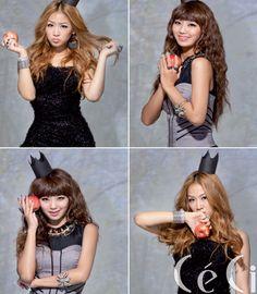 SISTAR's Soyou and HYOLIN CéCi Korea Magazine October 2011