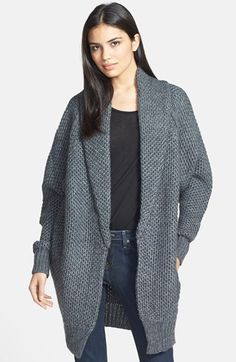 maje 'Document' Marled Open Front Cardigan | Nordstrom