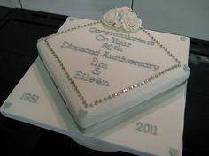 60th anniversary diamond cake