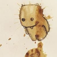 Artiest verandert koffievlekken in schattige monsters - LOL - Flair