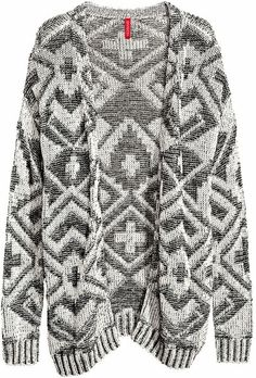 H&m Gray Knitted Cardigan