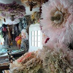 Studio of Marianne Eriksen Scott-Hansen, paper flower artist