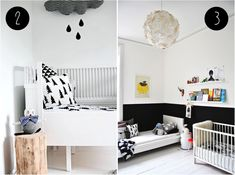 gorgeous nursery in monochrome with our favourite cloud accents!