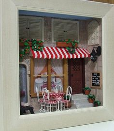 Tova's miniature cafe scene by Zoota, via Flickr