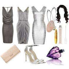 """""""Anastasia Steele: Graduation Ceremony Options"""" 50 shades of grey inspired outfits on http://www.polyvore.com/cgi/collection?id=2969642&.locale=es"""