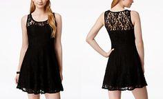 Material Girl Juniors' Lace Skater Dress