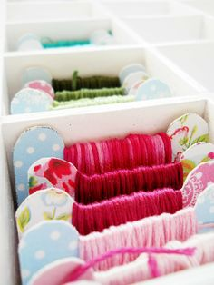 My New Favourite Creative Blog -  DIY scrapbook paper embroidery floss organisers