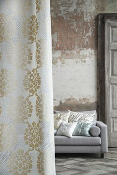 Luxury home fabrics and accessories. Christian Fischbacher. Drapery Curtain: HARMONY