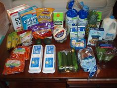 Check out Brigette's $74 grocery shopping trip and weekly menu plan for 6!