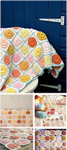Granny Squares Blanket Free Pattern.