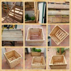 Build your own tree pot with recycled pallets