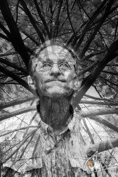 double exposure of Baton Rouge man with Louisiana bald cypress | fine art portrait in Baton Rouge | Eye Wander Photo | www.eyewanderphoto.com