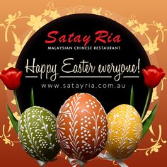 Happy Early #Easter everyone! Visit Satay Ria #CannonHill & #FortitudeValley we are open throughout the Easter Holiday period.