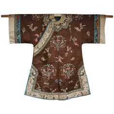 Fine Chinese Qing Dynasty Aristocrat Lady Robe | From a unique collection of antique and modern textiles and quilts at http://www.1stdibs.com/furniture/more-furniture-collectibles/textiles-quilts/