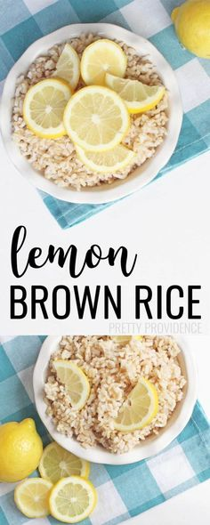 This easy lemon brown rice is so good you will forget it's actually healthy! Best Chicken Recipes, Beef Recipes, Vegetarian Recipes, Healthy Recipes, Budget Recipes, Family Recipes, Easy Recipes, Brown Rice Cooking, Vegetarian Food