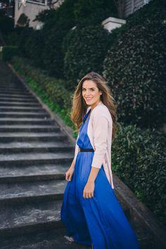 Gal Meets Glam Banana Republic - Royal Blue Maxi Dress