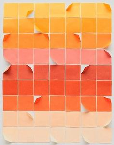 An #orange color palette in degradated tones
