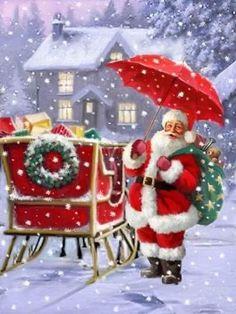 Christmas Scenery, Old Christmas, Magical Christmas, Christmas Pictures, All Things Christmas, Beautiful Christmas, Christmas Themes, Vintage Christmas, Christmas Crafts