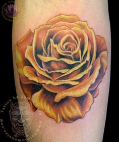 36 Best Yellow Rose Tattoo Images Color Tattoo Tattoo Ideas