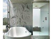BAD Blumen- Tapete in Mauer-Optik fürs Badezimmer NEXT SIMPOSIUM by Wall&decò