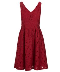 Red Floral Lace Dress - Ricki's
