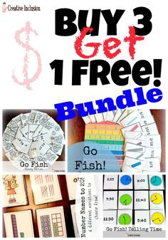 Math #Bargain ! Buy 3 Go Fish Games, get 1 Free! Fun math activities that support the Common Core and Everyday Math!