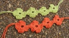 Aloha Flower Anklets (I use them as trim on blankets or table cloths. You could also make a headband.