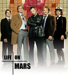 BBC Life on Mars < I can't get over how good this series was, the ending was perfect, and right up to the final moment I didn't know what to expect. Its probably the one show I've seen where the ending did not suck and it was brilliant. Mars Tv Show, Mystery Show, Netflix, Tv Detectives, Uk Tv, Life On Mars, Television Program, Great Tv Shows, Classic Tv